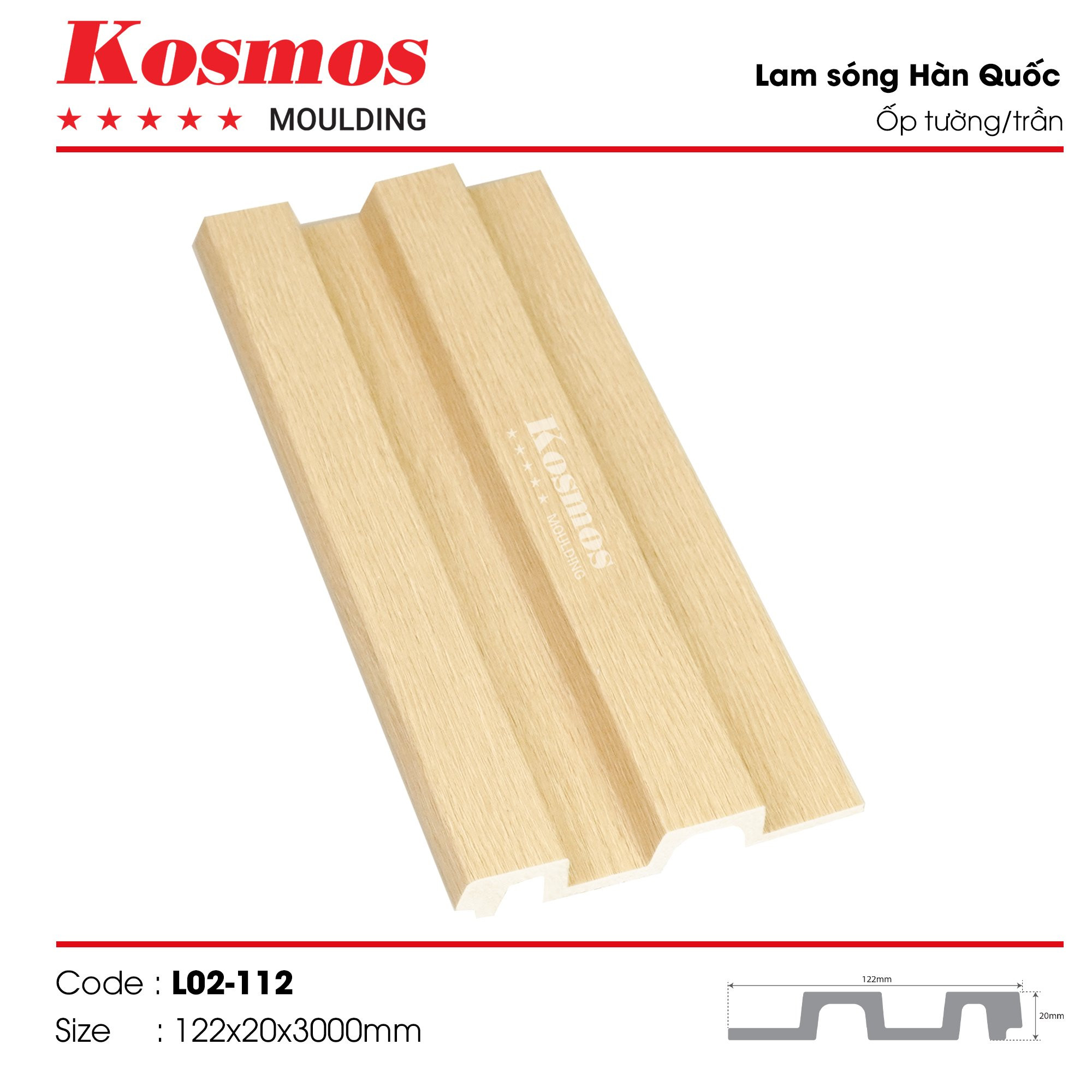 LAM SÓNG KOSMOS MOULDING LO2-112