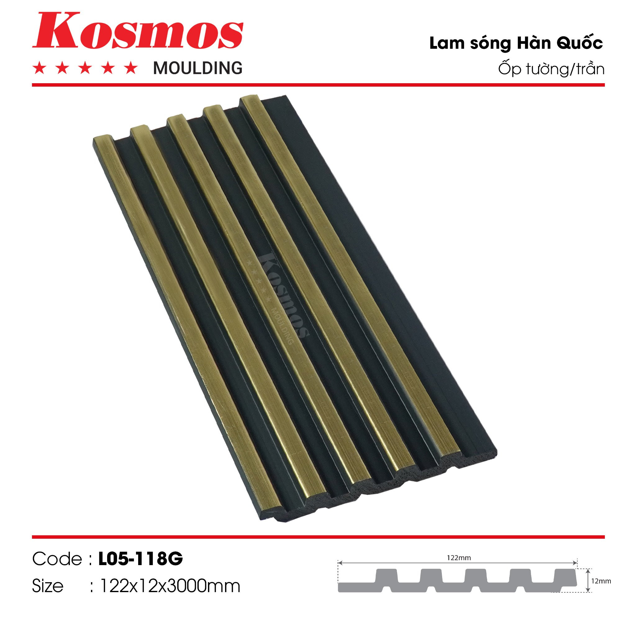 LAM SÓNG KOSMOS MOULDING LO5-118G