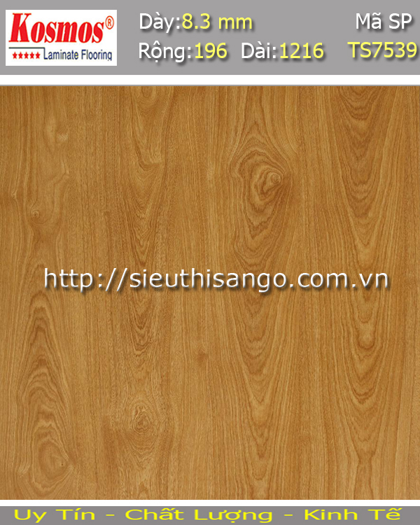 Sàn gỗ KOSMOS 8mm TS7539