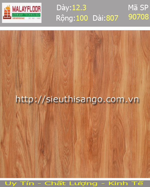 Sàn gỗ Malayfloor 12mm S90708
