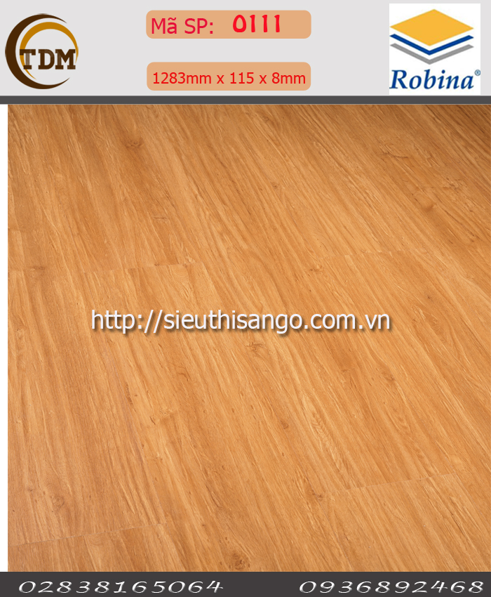 SÀN GỖ ROBINA O111-BN- 8MM