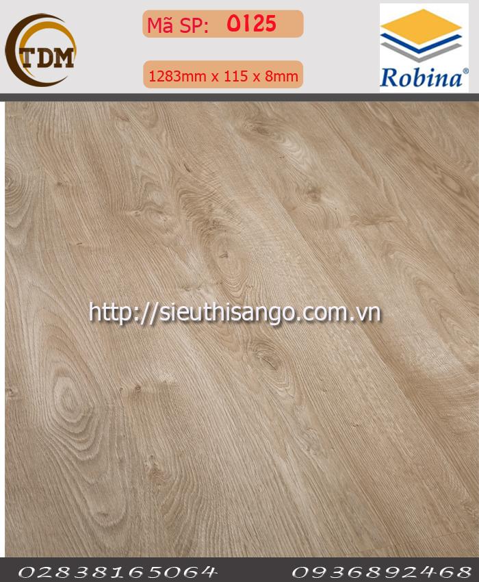 SÀN GỖ ROBINA O125-BN - 8MM