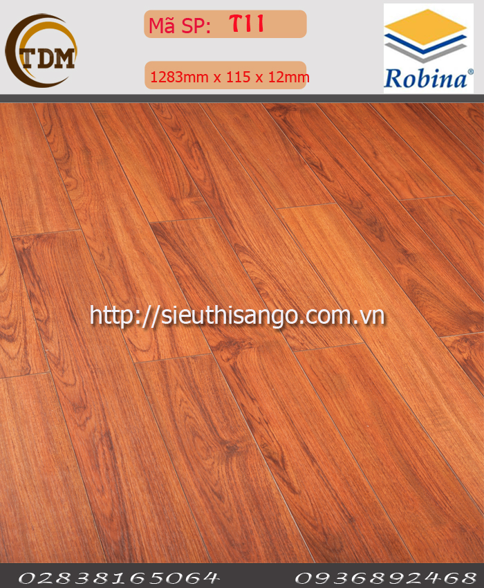 SÀN GỖ ROBINA T11 - 12MM