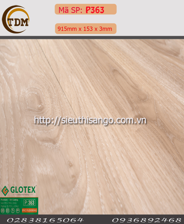 SÀN NHỰA GLOTEX 363 - 3MM